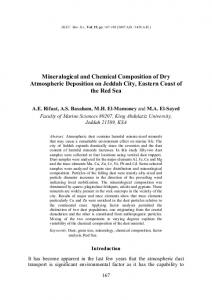 Mineralogical and Chemical Composition of Dry Atmospheric ...