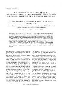 mineralogical and geochemical characterization of palygorskite from ...