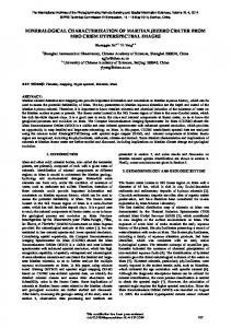 mineralogical characterization of martian jezero crater from mro crism ...