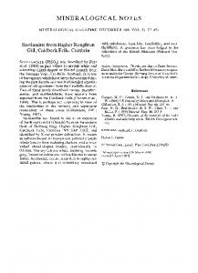 MINERALOGICAL NOTES Scotlandite from ... - Mineralogical Society