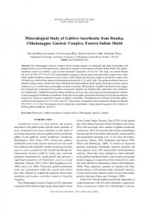 Mineralogical Study of Gabbro-Anorthosite from ... - Springer Link