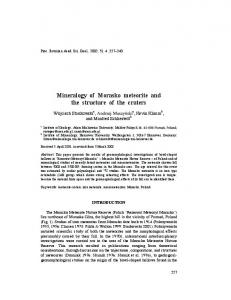 Mineralogy of Morasko meteorite and the structure ... - Meteorite Gallery