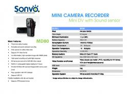 MINI CAMERA RECORDER MD80