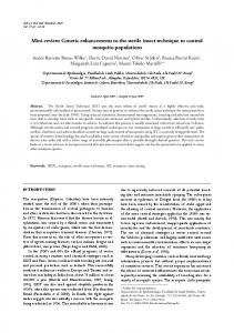 Mini-review: Genetic enhancements to the sterile insect ... - MSMBB