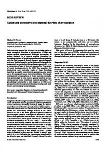 MINI REVIEW Update and perspectives on congenital disorders of ...