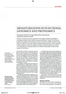 miniaturization in functional genomics and proteomics
