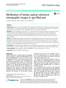Minification of fundus optical coherence tomographic images in gas ...