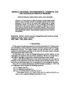MINIMAL MEASURES, ONE-DIMENSIONAL CURRENTS AND THE ...