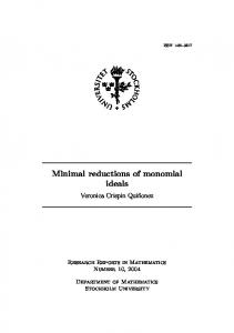 Minimal reductions of monomial ideals