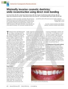 Minimally invasive cosmetic dentistry: smile ...