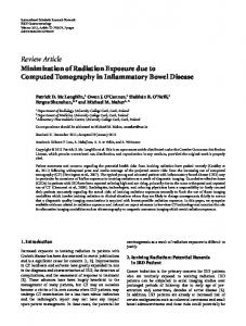 Minimization of Radiation Exposure due to Computed Tomography in ...