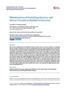Minimization of Switching Devices and Driver Circuits in Multilevel ...