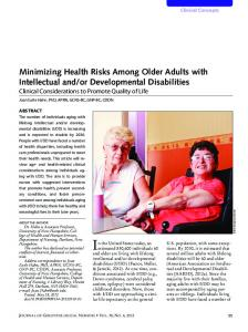 Minimizing Health Risks Among Older Adults with