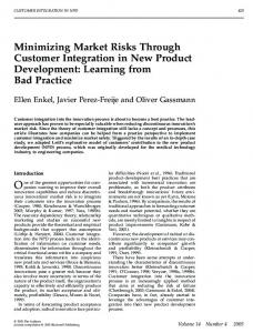 Minimizing Market Risks Through Customer ... - alexandria.unisg.ch