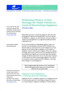 Minimizing Misery PB - European Centre for Social Welfare Policy ...