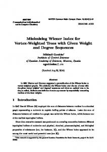 Minimizing Wiener Index for Vertex-Weighted Trees with Given Weight