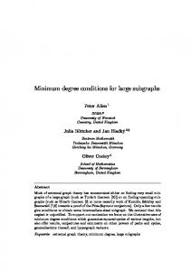 Minimum degree conditions for large subgraphs - LSE