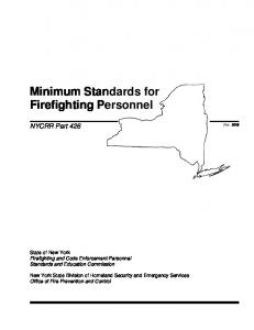 Minimum Standards for Firefighting Personnel