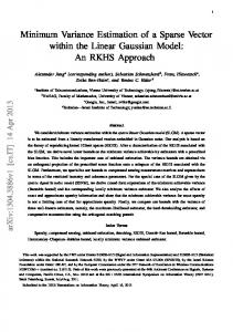 Minimum Variance Estimation of a Sparse Vector within the ... - arXiv