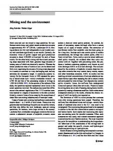 Mining and the environment - Springer Link