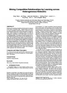 Mining Competitive Relationships by Learning ... - Semantic Scholar