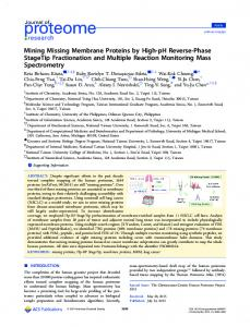 Mining Missing Membrane Proteins by High-pH ... - ACS Publications