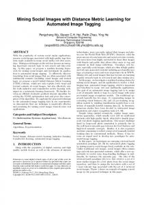Mining Social Images with Distance Metric Learning ... - LARC Research