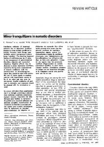 Minor tranquillizers in somatic disorders - Europe PMC