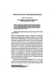 Minorant methods for stochastic global optimization