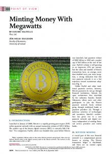 Minting Money With Megawatts - IEEE Xplore