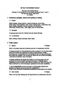 Minutes 15 November 2012 - Disability Services Commission - The ...