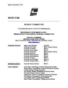 MINUTES - City of Mississauga