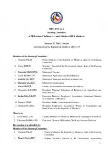Minutes of Meeting - 31.01.2013
