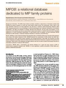MIPDB: a relational database dedicated to MIP ... - Wiley Online Library