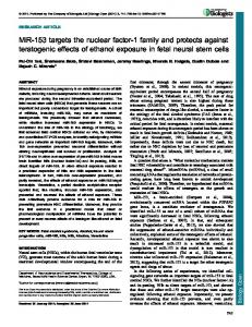 MiR-153 targets the nuclear factor-1 family and ... - BioMedSearch