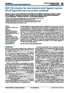 MiR-155 induction by microbes/microbial ligands ... - BioMedSearch