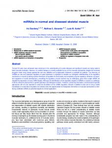 miRNAS in normal and diseased skeletal muscle - Wiley Online Library