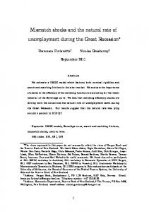 Mismatch shocks and the natural rate of unemployment during the ...