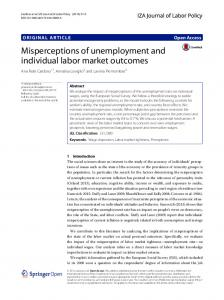 Misperceptions of unemployment and individual labor market outcomes