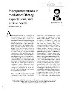 Misrepresentations in mediation - SSRN papers
