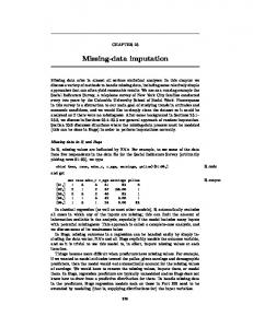 Missing-data imputation - Department of Statistics - Columbia ...