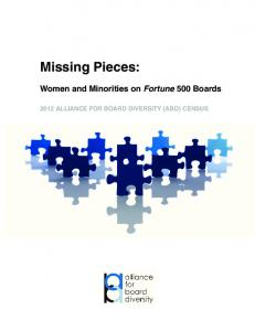 Missing Pieces: Women and Minorities on Fortune 500 Boards