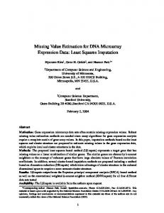 Missing Value Estimation for DNA Microarray Expression Data: Least