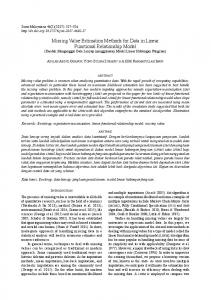 Missing Value Estimation Methods for Data in Linear Functional ... - UKM