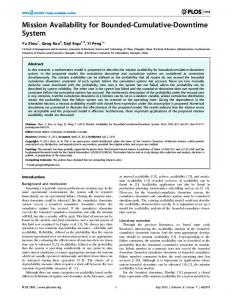 Mission Availability for Bounded-Cumulative ... - Semantic Scholar