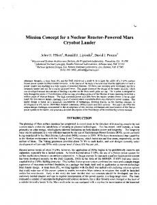 Mission Concept for a Nuclear Reactor-Powered Mars Cryobot ... - NASA