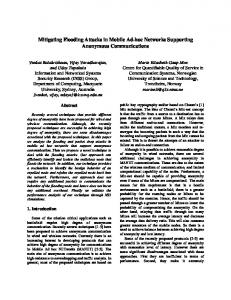 Mitigating Flooding Attacks in Mobile Ad-hoc Networks Supporting ...