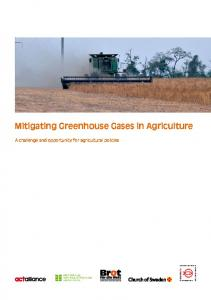 Mitigating Greenhouse Gases in Agriculture