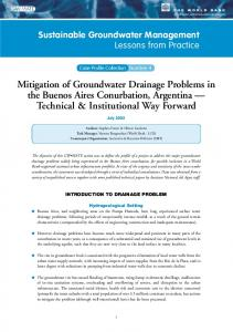 Mitigation of Groundwater Drainage Problems in the Buenos Aires ...