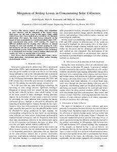 Mitigation of Soiling Losses in Concentrating Solar ... - IEEE Xplore